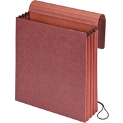 "Pendaflex® Vertical Expanding Wallets, Letter Size, 3.5"" Expansion, Redrope, 5/Box (14006)"