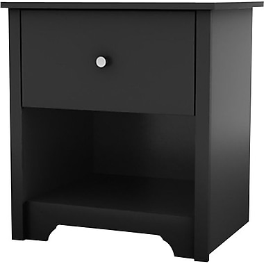 South Shore – Table de nuit de la collection Vito, noir uni