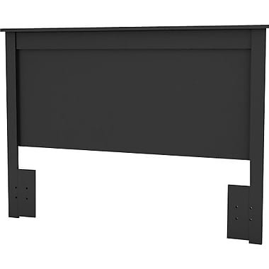 South Shore Vito Collection Queen Headboard, Solid Black
