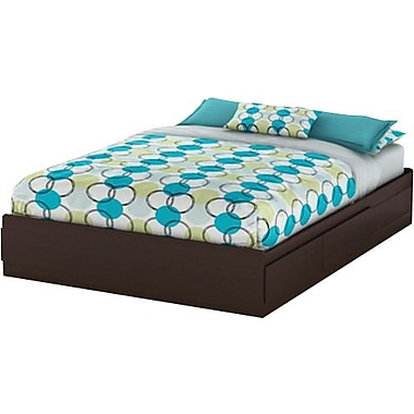 South Shore Vito Collection Queen Mates Bed, Chocolate