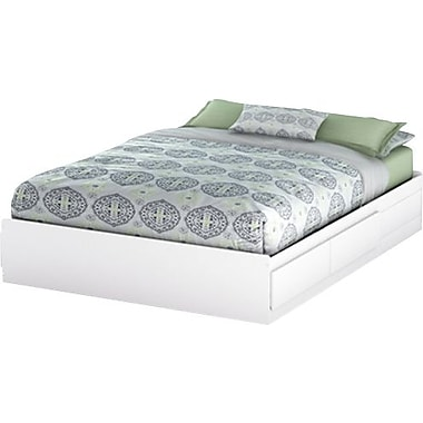 South Shore Vito Collection Queen Mates Bed, White