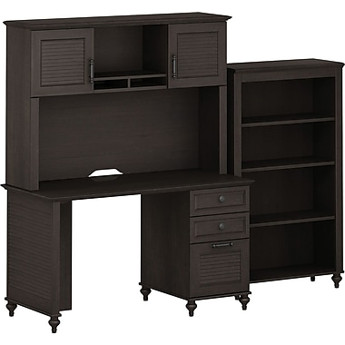 kathy ireland by Bush® – Mobilier pour le bureau Office suite 4, Volcano Dusk, fini Kona Coast