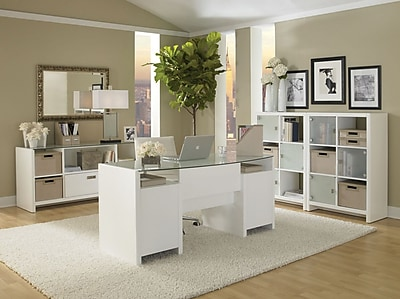Kathy Ireland Office® by Bush® New York Skyline Collection, Plumeria White