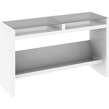 kathy ireland by Bush® - Table console pour ordinateur portatif, New York Skyline, fini blanc Plumeria