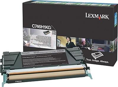 Lexmark Black Toner Cartridge (C746H1KG), High Yield, Return Program