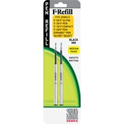 Zebra F-301, F402, F-701 Pen Refills, Medium Point, Black, 2/Pack