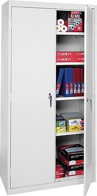 Sandusky® Storage Cabinet, Dove Gray, 4-Shelf, 72