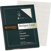 "Southworth® 25% Cotton Antique Laid Buisness Paper, 24 lb, 8 1/2"" x 11"", White, 100/Pack"