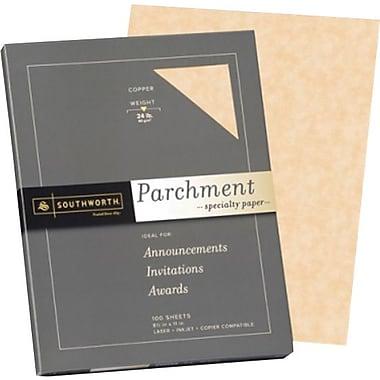 Southworth® - Papier parchemin, 24 lb, 8 1/2 po x 11 po, cuivre, paq./100