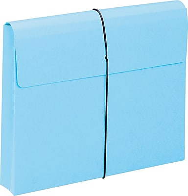 Two Inch Expansion Wallet with String, Letter, , Blue, 10/BX