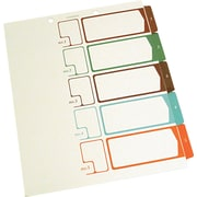 Table of Contents Index Dividers, 1-5, Multicolor, 11 x 8-1/2 (SJPS05175)