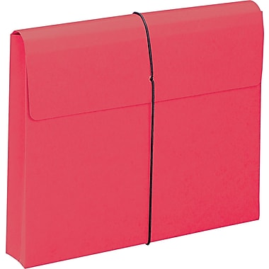 Two Inch Expansion Wallet with String, Letter, , Red, 10/BX