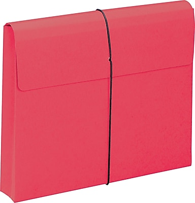 Two Inch Expansion Wallet with String, Letter, Red, 10/BX
