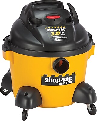 Shop-Vac Right Stuff Wet/Dry Vacuum, 6 gal, 3 hp, 19 lbs., Yellow/Black