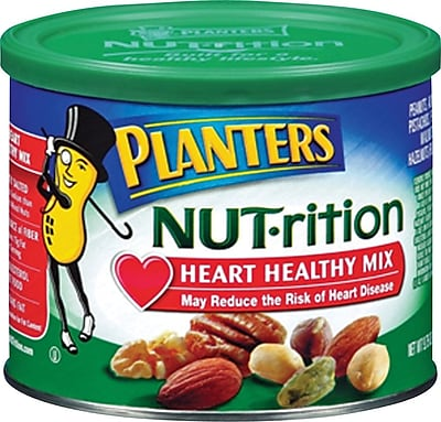 Planters® NUT-rition Heart Healthy Mix, 9.75 oz. Canister (05957)