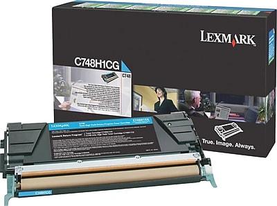 Lexmark Cyan Toner Cartridge (C748H1CG), High Yield, Return Program