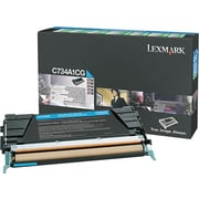 Lexmark X748 Cyan Return Program Toner Cartridge, High Yield (X748H1CG)