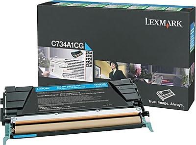 Lexmark Cyan Toner Cartridge (X748H1CG), High Yield, Return Program