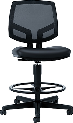 HON Volt Mesh Back Task Stool, Extended Height, Footring, Black SofThread Leather NEXT2018 NEXT2Day