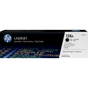 HP 128A (CE320AD) Black Original LaserJet Toner Cartridges, 2/Pack
