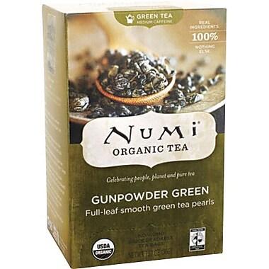 Numi® Gunpowder Green Organic Green Tea, Medium Caffeine, 18 Tea Bags/Box