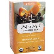 Numi® White Orange Spice Organic White Tea, Lower Caffeine, 16 Tea Bags/Box