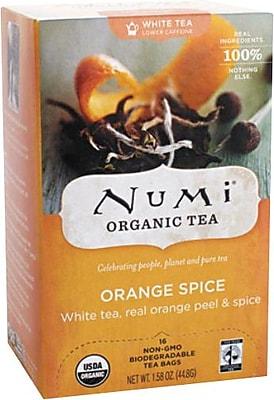 Numi® White Orange Spice Organic White Tea, Lower Caffeine, 16 Tea Bags/Box