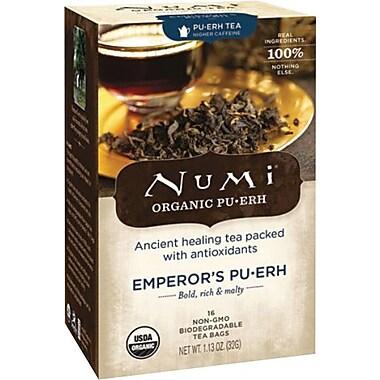 Numi® Emperor's Organic Pu-erh Tea, Higher Caffeine, 16 Tea Bags/Box