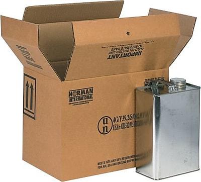 13.75''x9''x10.38'' Hazmat Shipping Box, 350#/ECT, 20/Bundle (HAZ1023)