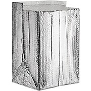 """SI Products Insulated Box Liners, 8"""" x 8"""" x 8"""", Silver, 25/Case (INL888)"""