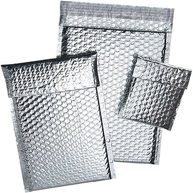 Staples® Cool Shield Bubble Mailers, Silver, 6-3/8
