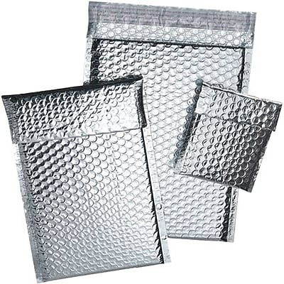 Staples® Cool Shield Bubble Mailers, Silver, 14-7/8