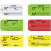 "Staples Inspection Tags, 4 3/4"" x 2 3/8"""