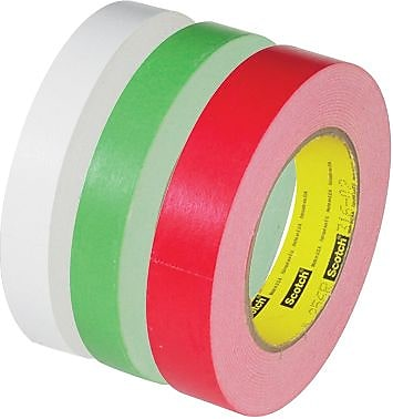 3M 256 Flatback Tape, White, 3/4