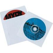 """4 7/8"""" x 5"""" - Staples Paper Windowed CD Sleeves, 500/Case"""