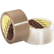 "3M 371 Carton Sealing Tape, Clear, 3"" x 1500 yds., 4 Rolls"