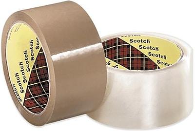 3M 355 Carton Sealing Tape, Clear, 3