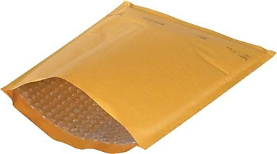 "Staples 8 1/2"" x 12"" Kraft #2 Heat-Seal Bubble Mailers, 25/Case"