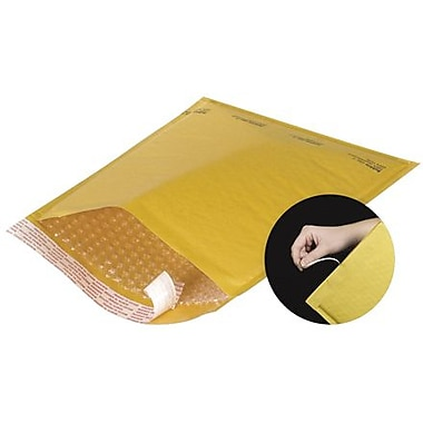 Staples® Self-Seal #000 Bubble Mailers, Easy-Open Tear-Tab, Kraft, 3-7/8