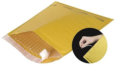 "Staples 5"" x 10"" Kraft #00 Self-Seal Bubble Mailers Easy-Open Tear-Tab, 250/Case"