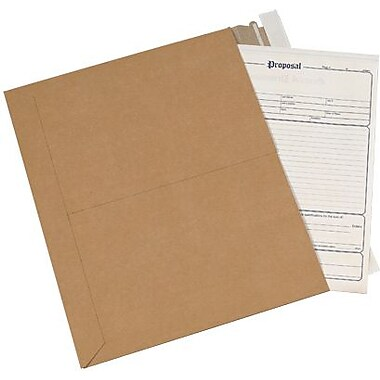 Staples® Utility Flat Mailer, Kraft, 14-1/4