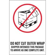 """Do Not Cut Outer Wrap Shipping Label, 4"""" x 6"""""""