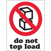 "Do Not Top Load Shipping Label, 3"" x 4"""