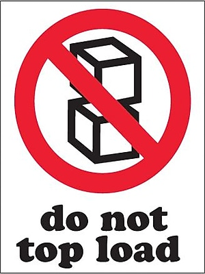 Do Not Top Load Shipping Label, 3