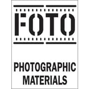 """""""FOTO Photographic Materials"""" Shipping Label, 3"""" x 4"""""""
