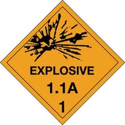 "Tape Logic Explosive - 1.1A - 1"" Tape Logic Shipping Label, 4"" x 4"", 500/Roll"