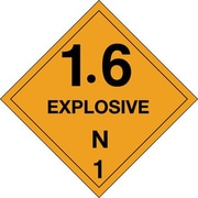 "Tape Logic 1.6 - Explosive - N 1"" Tape Logic Shipping Label, 4"" x 4"", 500/Roll"