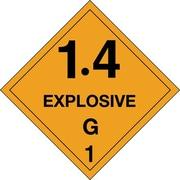 "Tape Logic 1.4 - Explosive - G 1"" Tape Logic Shipping Label, 4"" x 4"", 500/Roll"