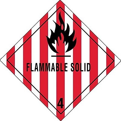 Tape Logic Flammable Solid - 4
