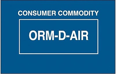 Tape Logic Consumer Commodity ORM-D-AIR Shipping Label, 1 3/8